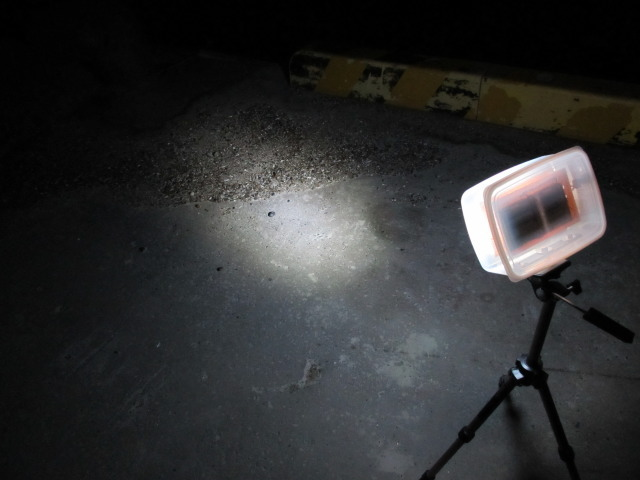 自作乾電池LED集魚灯